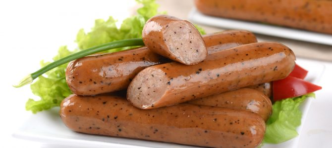 91252 Chicken Black Pepper Sausage 5""